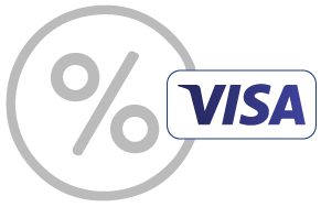 Visa Percent Icon