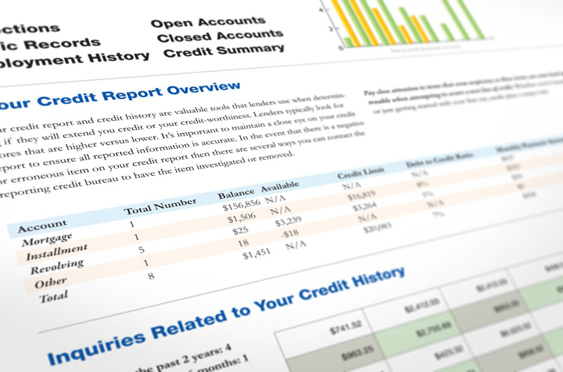 Credit report documents
